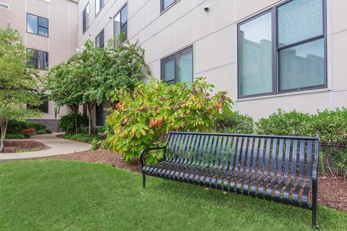 Relaxing Bench at Uptown Flats