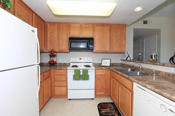 Granite Ridge provides a built-in microwave