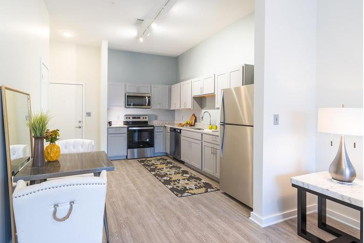 Open kitchen in Chelsea floor plan at The Lofts at Brentwood in Nashville, TN