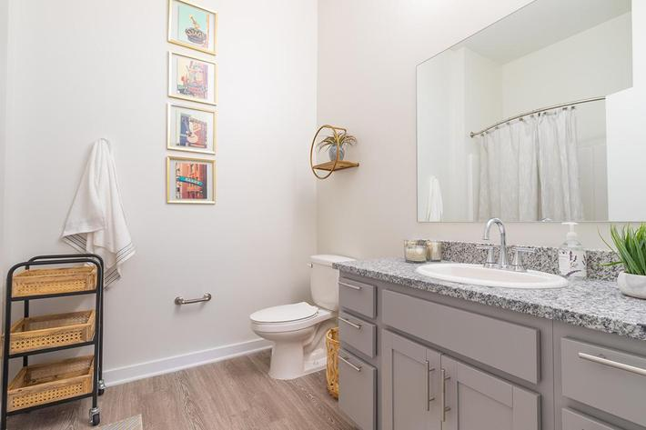 Spacious bathroom in Chelsea floor plan at The Lofts at Brentwood