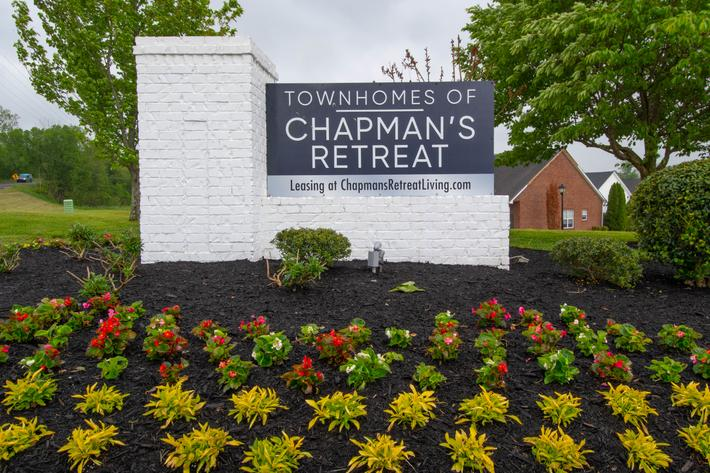 monument signage at Chapmans retreat in Spring Hill, Tennessee