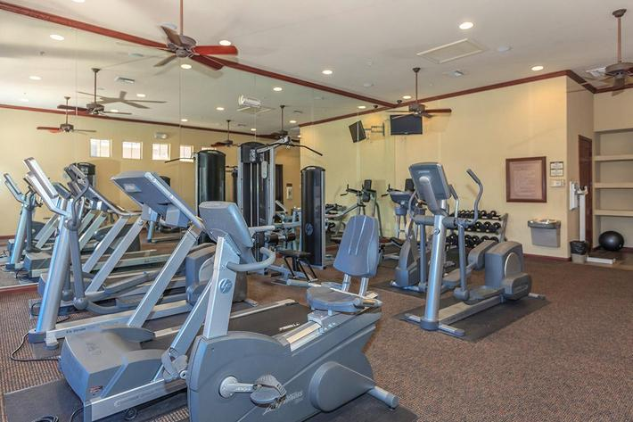 Fitness Center at The Pavilions At Providence Apartments