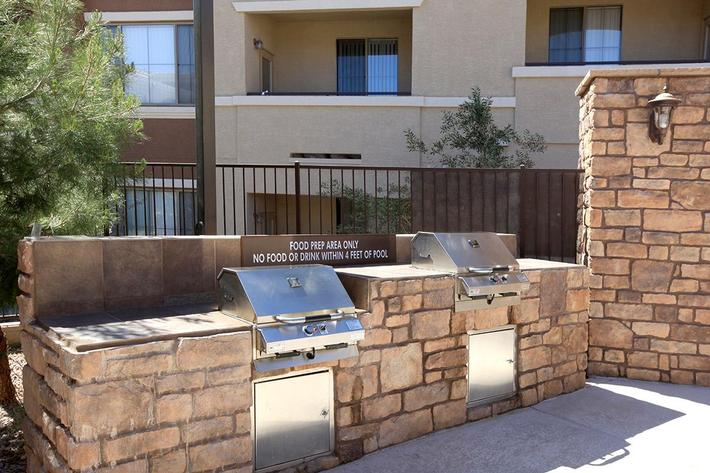 Grill Area at The Pavilions At Providence Apartments