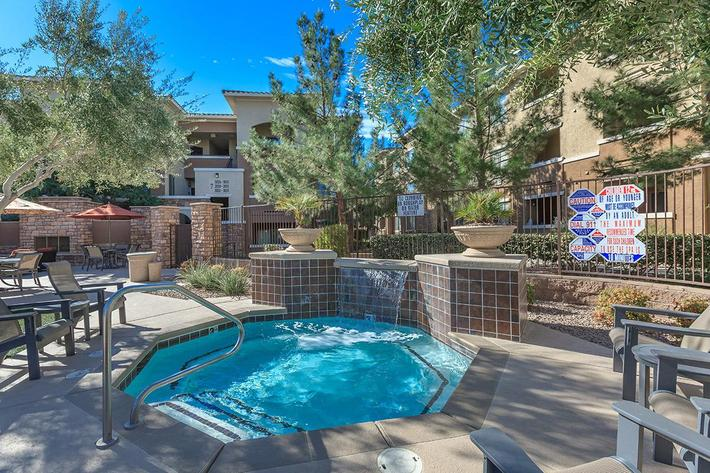 Soothing Hot Tub at The Pavilions At Providence Apartments