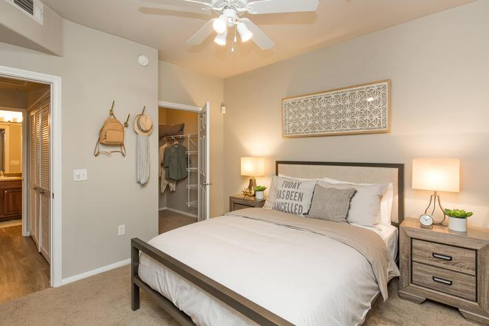 Cozy Bedroom at The Pavilions At Providence Apartments