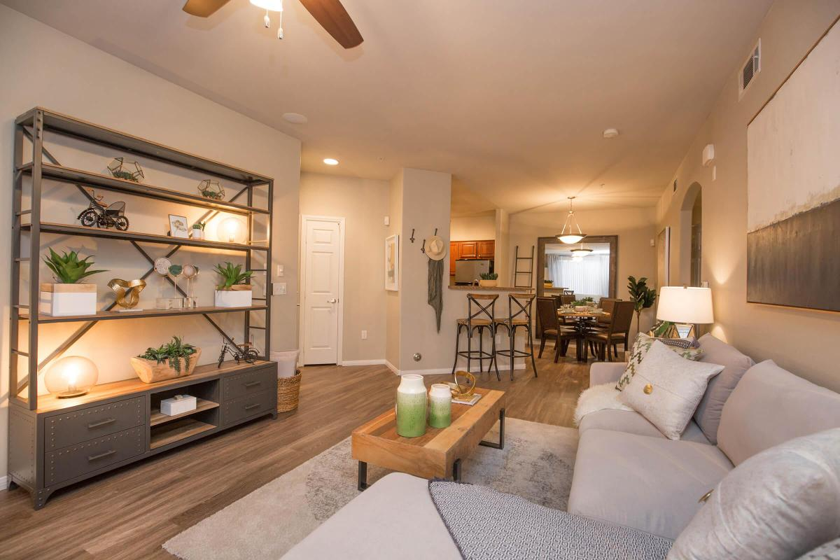 Spacious Living Room at The Pavilions At Providence Apartments