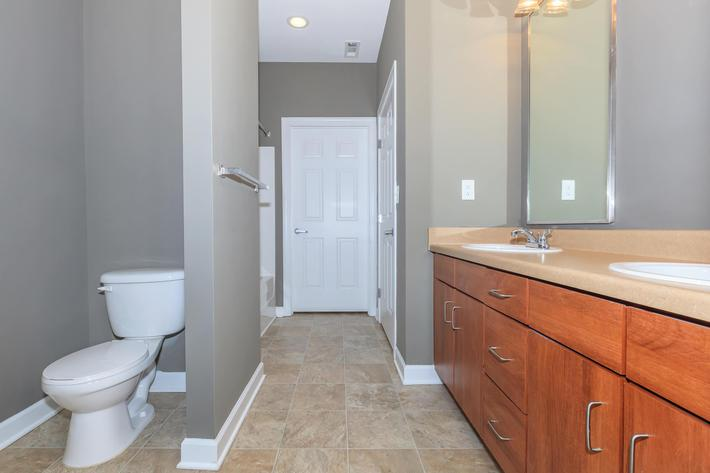 Spacious Bathrooms at East River Place