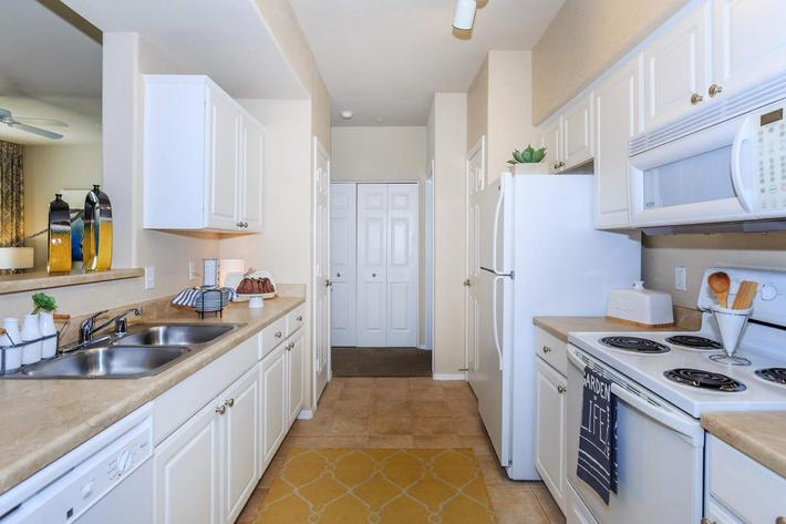 All-electric kitchen at Aliante Apartment Homes