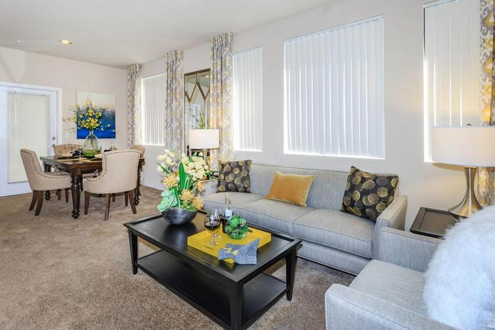 Your new living room at Aliante Apartment Homes