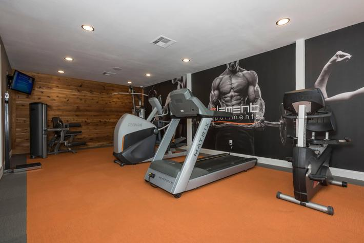 State of the art fitness center at Element in Arlington, TX