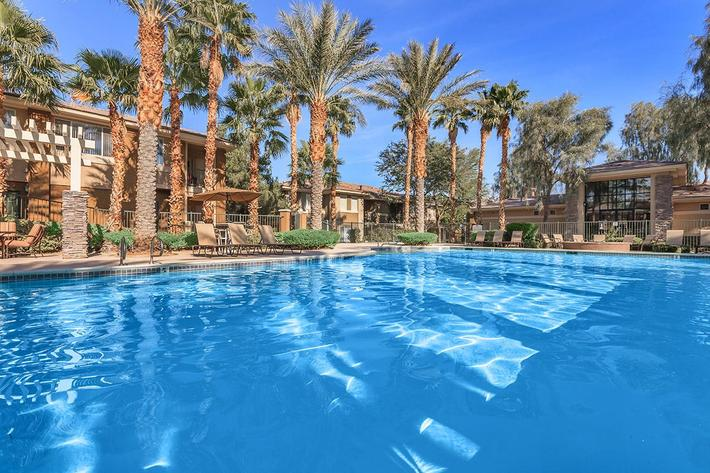 COOL / REFRESHING POOL AT ST. CLAIR APARTMENTS IN LAS VEGAS, NEVADA