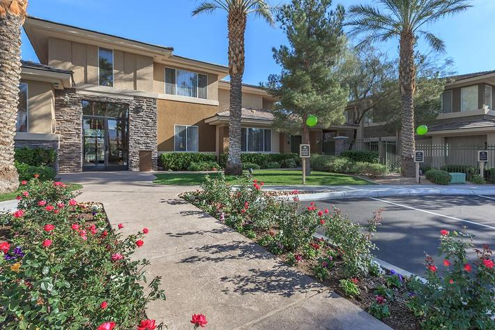 GORGEOUS LANDSCAPING AT ST. CLAIR APARTMENTS IN LAS VEGAS, NEVADA