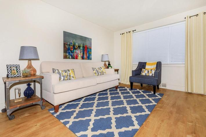 Spacious living room here at The District