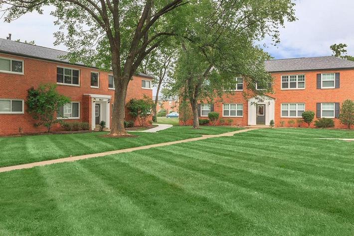 Beautiful landscaping here at The District in St. Louis, Missouri