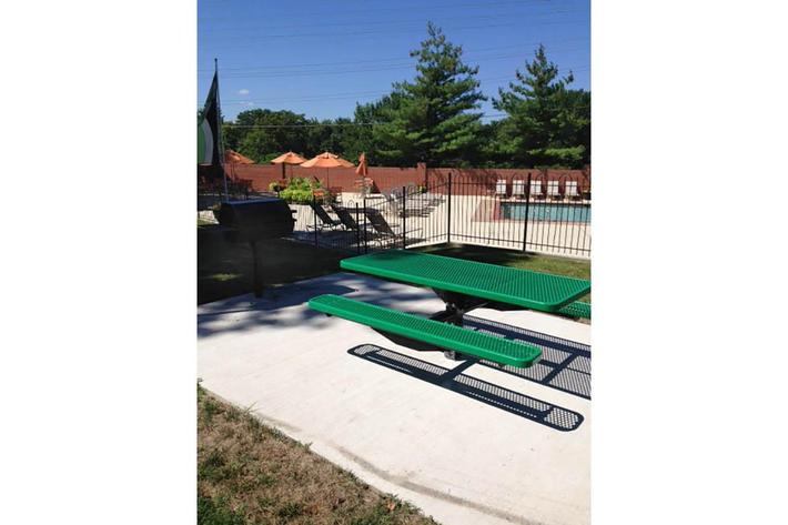 Discover the picnic area here at The District in St. Louis, Missouri