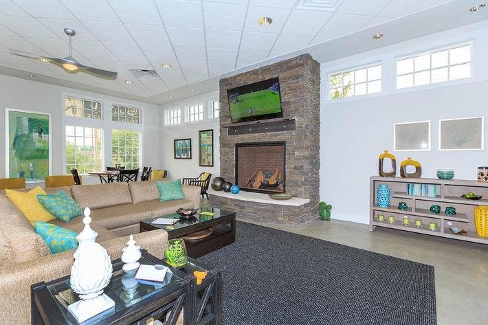 Enjoy the clubhouse at The District