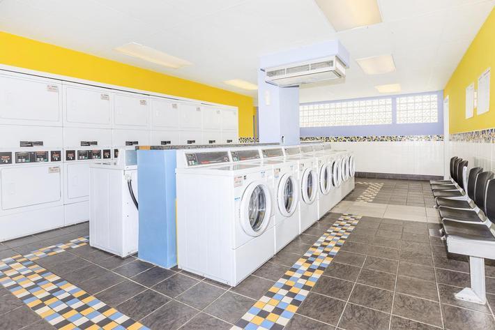 Laundry facility here at The District in St. Louis, Missouri