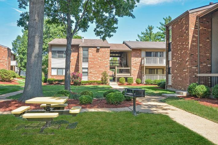 Orchard Village Apartments in Manchester, MO - Picnic Area 01.jpg
