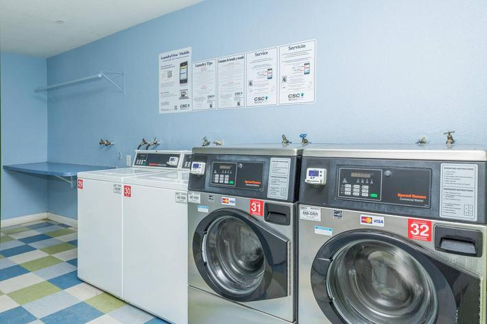 On-site laundry facility at Crown Point