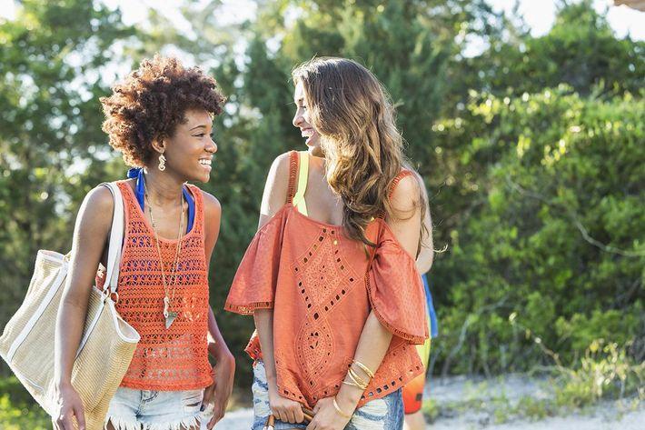 Two young women laughing in Texarkana, Texas