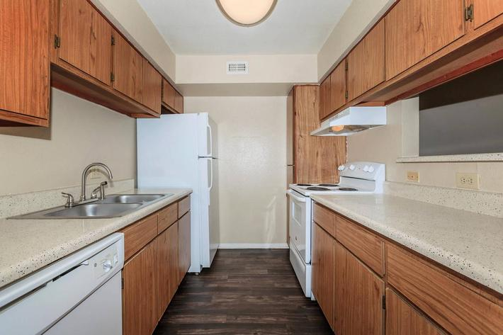 Fully equipped kitchen at The Park at Summerhill Road