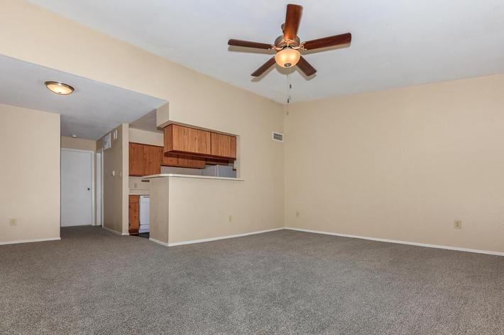 Spacious living room at The Park at Summerhill Road