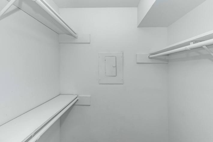 Spacious closets with shelving in The Park at Summerhill Road apartments