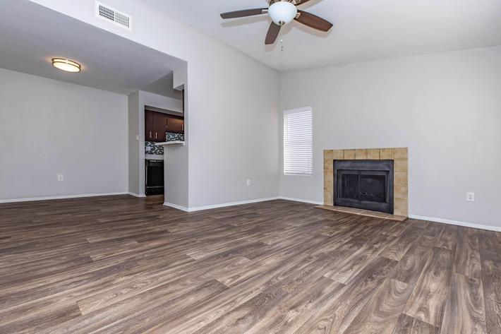 The Park at Summerhill Road wood-style flooring in select Plan C homes