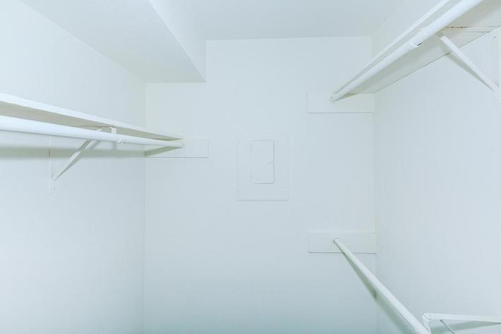 Spacious closets in The Park at Summerhill Road homes