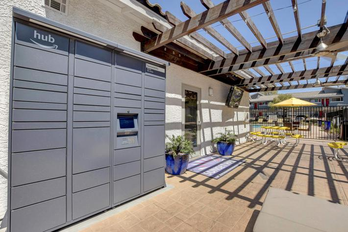 Package Lockers at Sunset Hills, Henderson, Nevada