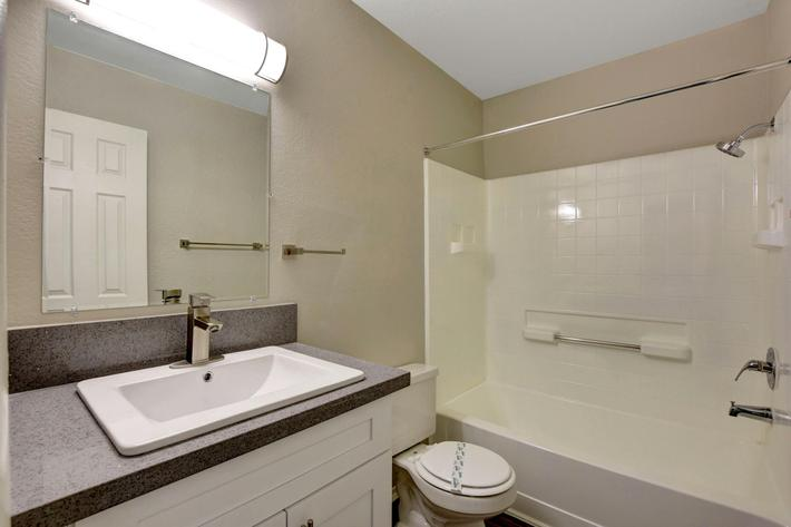 Sleek and Modern Bathrooms at Sunset Hills, Henderson, Nevada