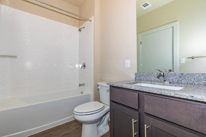 Full-size Linen Cabinets in Bathrooms at ArborView