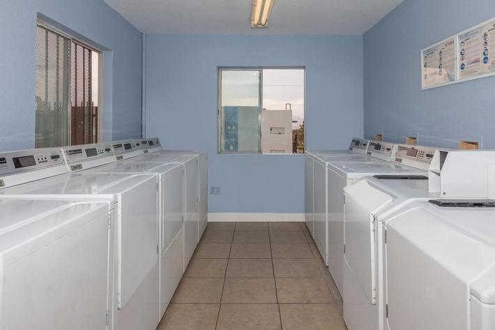 We have a laundry facility at Hilltop Villas