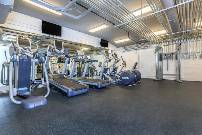 Stay fit at The Lofts at South Slope in Asheville, NC.