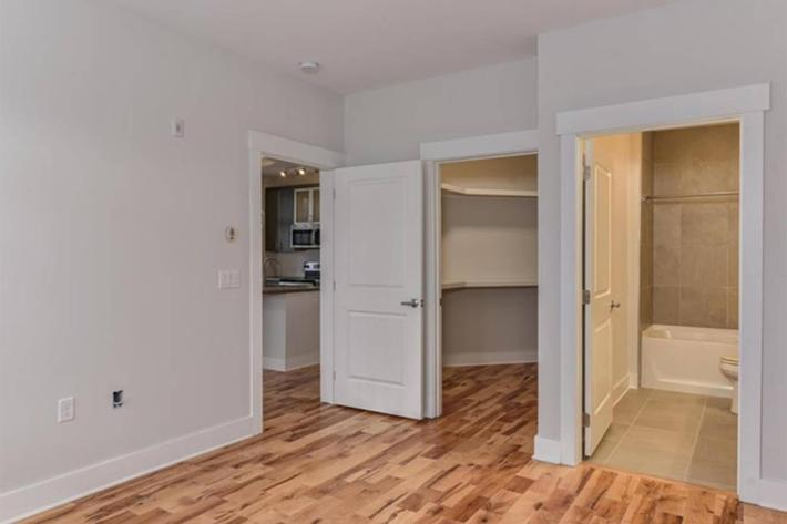 Ample storage space at The Lofts at South Slope in Asheville, North Carolina.