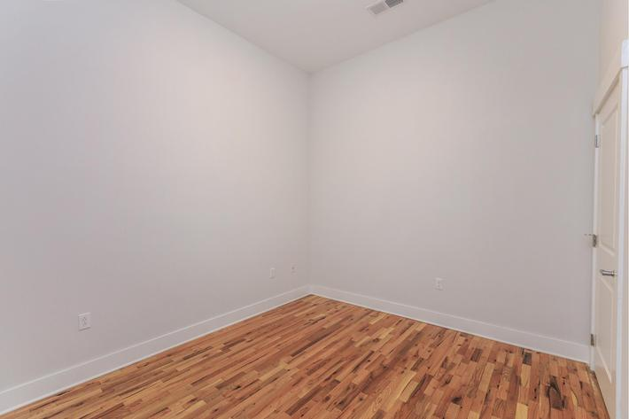 Hardwood flooring at The Lofts at South Slope in Asheville, NC.