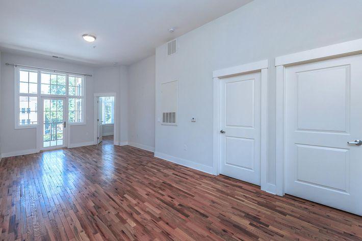 Hardwood flooring at The Lofts at South Slope in Asheville, North Carolina.