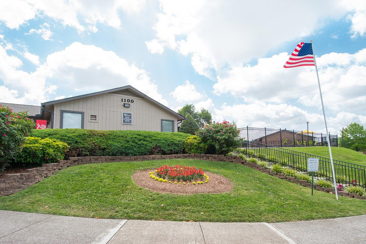American Flag at Hillhurst Apartments