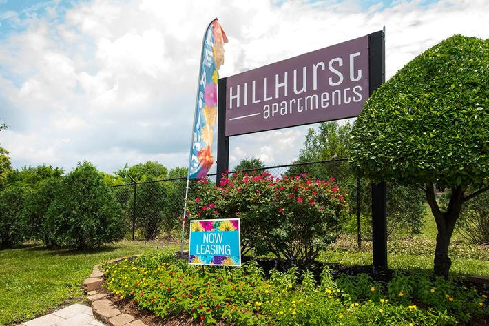 Monument Sign at Hillhurst Apartments