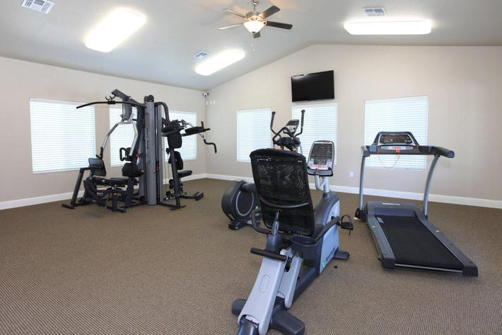 You will love the fitness center at Villa Sa Vini