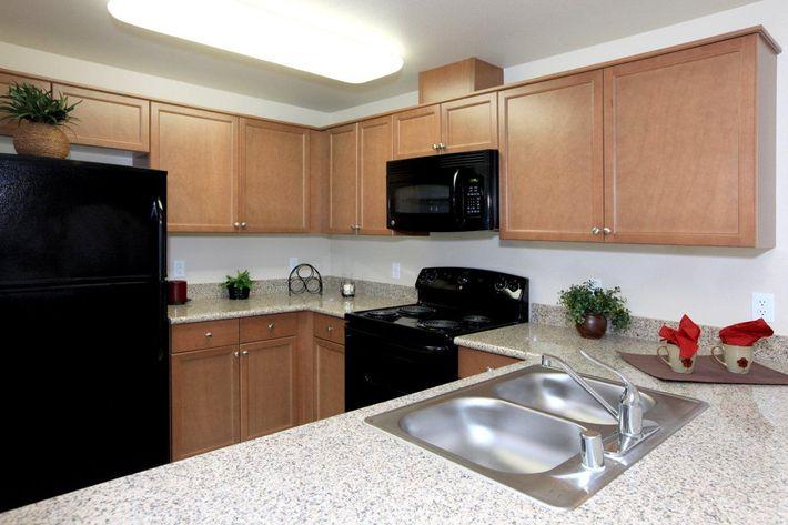 Villa Sa Vini provides sleek black appliances