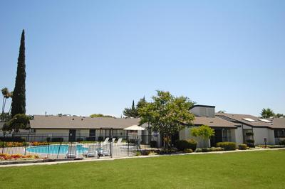 This is the pool area in Westwood Apartments
