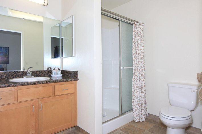 Granite countertops are in the bathrooms at Watermark