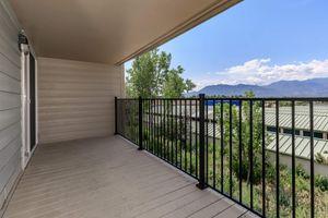 BALCONY WITH A BEAUTIFUL VIEW IN COLORADO SPRINGS, COLORADO