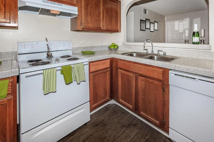 An all-electric Kitchen at Laurel Park Apartments