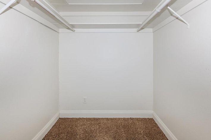Walk-in closets at Laurel Park Apartments