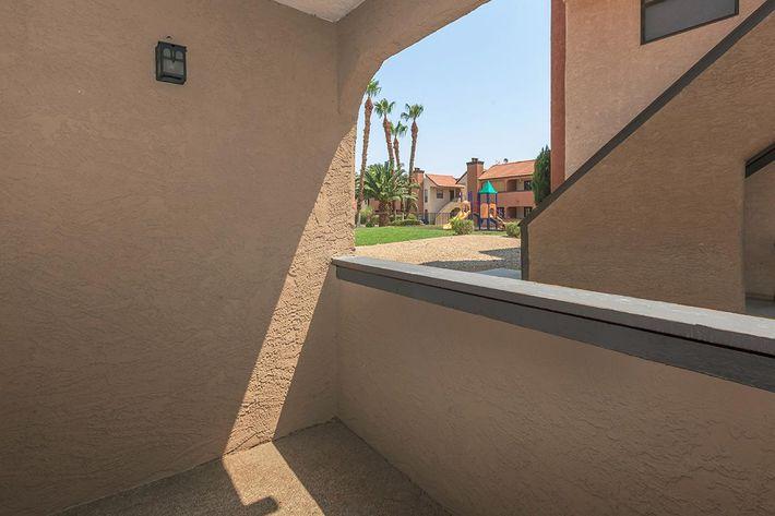 Balcony or Patio at Laurel Park Apartments