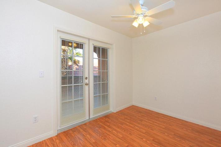 French Doors Lead out to your balcony at Laurel Park Apartments