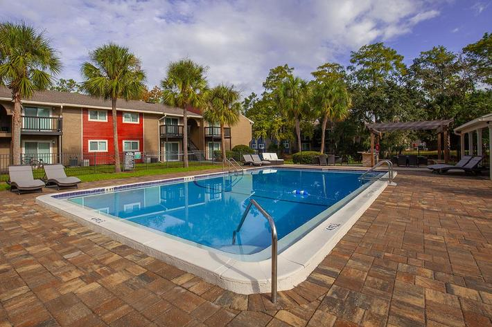 Cool off here at Heron Walk Apartments in Jacksonville, Florida