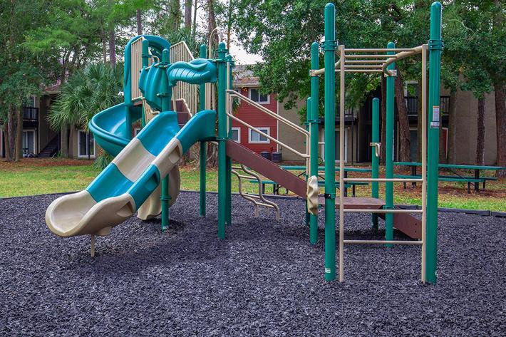Enjoy the play area here at Heron Walk Apartments in Jacksonville, Florida